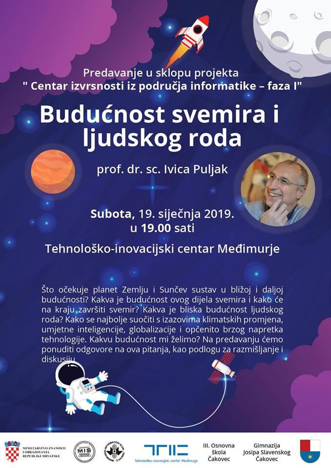 Javno predavanje: Budućnost svemira i ljudskog roda
