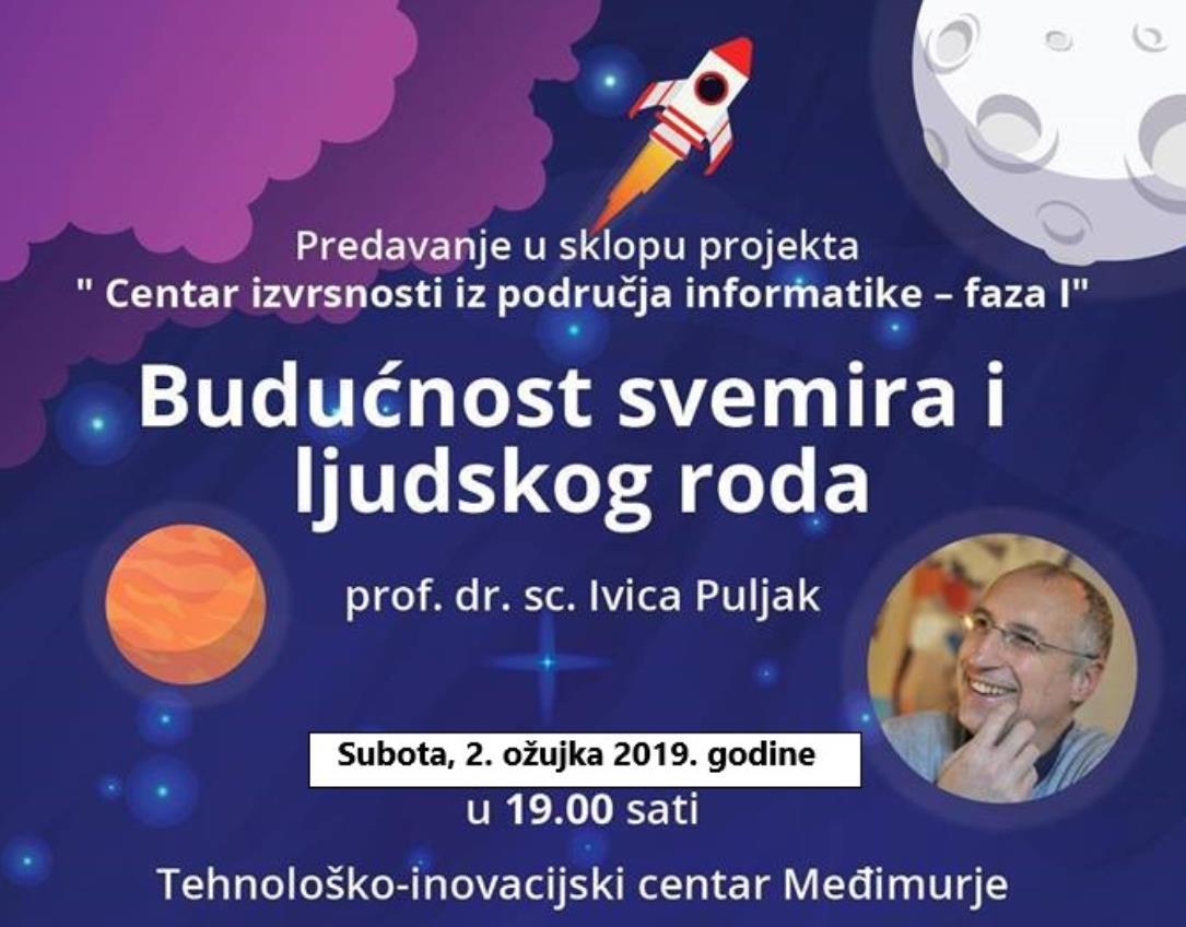 """Javno predavanje """"Budućnost svemira i ljudskog roda"""""""
